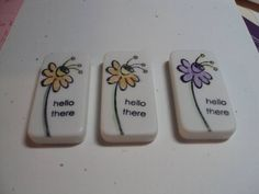 Just Buzzin By domino magnets by waltncindy - Cards and Paper Crafts at Splitcoaststampers