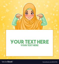 Muslim woman pointing finger down at copy space vector image on VectorStock Tired Cartoon, Free Vector Images, Vector Free, Logo Ig, Foto Frame, Kids Reading Books, Pointing Fingers, Miniature Photography, Hijab Cartoon