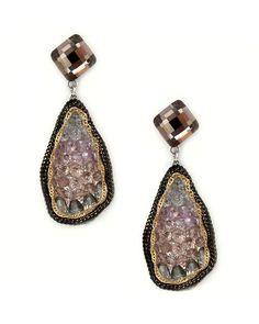 I like the irregular lines of these teardrop earrings.