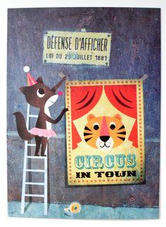 """Set 7 cards """"Friends from #Paris"""" by  #Ingela P #Arrhenius from www.kidsdinge.com https://www.facebook.com/pages/kidsdingecom-Origineel-speelgoed-hebbedingen-voor-hippe-kids/160122710686387?sk=wall"""