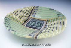 Shades of Green and Gray by MadaGlasscarStudio on Etsy, $225.00