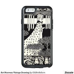 Art Nouveau Vintage Drawing OtterBox iPhone 6/6s Case