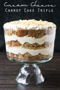 Cream Cheese Carrot Cake Trifle on MyRecipeMagic.com . This dessert is simple, but amazing!