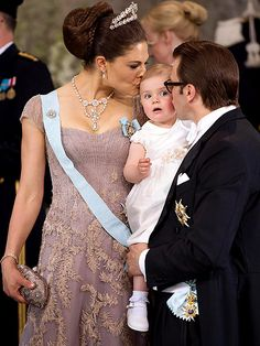 Crown Princess Victoria of Sweden with her husband, Prince Daniel, and their daughter Estelle