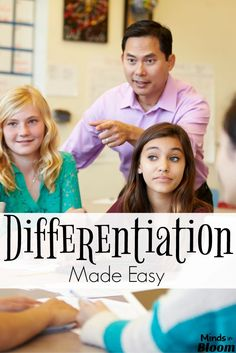 Differentiation has become a huge buzzword in the education field in the last several years, but it's been around for a long time. Here are four tips. Differentiation Strategies, Differentiation In The Classroom, Differentiated Instruction, Teaching Strategies, Teaching Resources, Teaching Ideas, Primary Teaching, Instructional Strategies, Teaching Reading