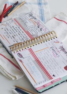 Time to get those recipes organized in the Keepsake Kitchen Diary!