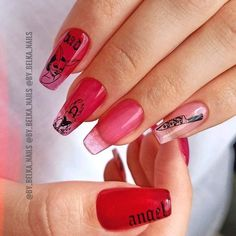 Sexy Red Coffin Nails With Negative Space ❤ 35+ Magnificent Coffin Nails Designs You Must Try ❤ See more ideas on our blog!! #naildesignsjournal #nails #nailart #naildesigns #nailshapes #coffins #coffinnails #coffinnailshapes