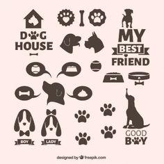 vectores iconos perros vintage - Buscar con Google