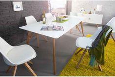 Stół Scania I szer. Scandinavian Dining Table, Scandinavian Interior, Scandinavian Style, Table Design, Office Desk, Designer, Dining Room, Furniture, Home Decor