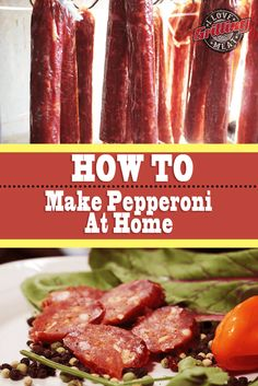 How to Make Pepperoni At Home (Artisan Recipe) This pepperoni is nothing like what you'll find on a pizza, it's much better! Learn how to make pepperoni the Artisan way, with real meat. What Is Pepperoni, How To Make Pepperoni, Beef Pepperoni, Pepperoni Sticks, How To Make Sausage, Homemade Pepperoni Recipe, Homemade Sausage Recipes, Pepperoni Recipes, Recipes