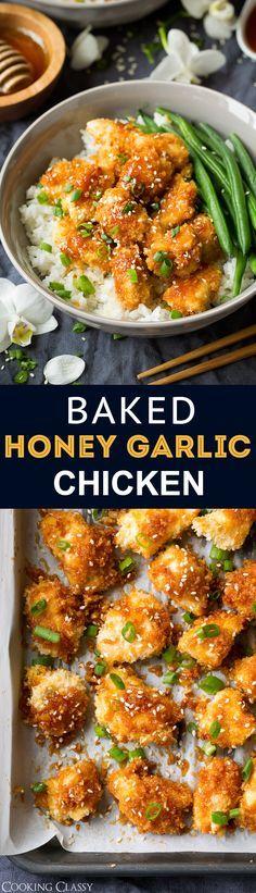 Baked Honey Garlic Chicken - Cooking Classy