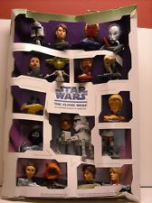 Mcdonalds Happy Meal Star Wars Clone Wars Toy Set Complete Display Stand 18 Toys