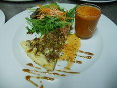 Starter - Gaspacho Soup and Tart