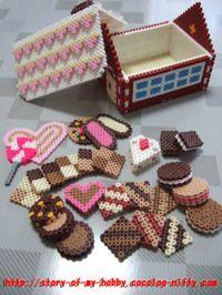 パーラービーズ:お菓子の家②