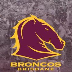 My Team - Brisbane Broncos. Brisbane Broncos, Broncos Logo, Ultimate Man Cave, Rugby League, Sport Man, Superhero Logos, Cowboys, Vegas, Random Stuff