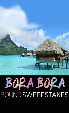 Win a 5 day Escape to Bora Bora!  Tarte Cosmetics wants to send you and a friend on an eco-chic adventure!   Win a trip including hotel, airfare, and tarte travel essentials for two!
