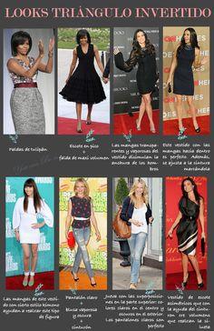 Muy buenos días chicas! ¿Cómo estáis? Ya por fin es viernes y encima parece que en Madrid va a hacer un tiempo estupendo así que estoy encantada. ¡La de en V Shape Body, Triangle Body Shape, Body Shapes, Inverted Triangle Outfits, Inverted Triangle Body, Fashion And Beauty Tips, Fashion Advice, Body Type Clothes, Styled By Susie