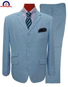 Mens Suits Uk, Mod Suits, Summer Wedding Suits, T Shirt Hacks, Blue Suit Men, Order T Shirts, Tailored Suits, Mod Fashion, Personalized T Shirts