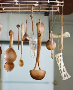 Enamelist June Schwarcz's handmade spoons are both useful and beautiful. Photo: Leslie Williamson