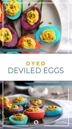 Perfect for Easter, these fun deviled eggs make for a festive brunch appetizer!