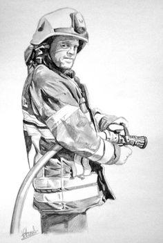 Portrait pencil. Realistic pencil portrait artist. Portrait of a girl. Pencil portrait drawing. Portrait drawings. Professional pencil portraits of a man, firefighter, or fire fighter.www.vincentsart.com