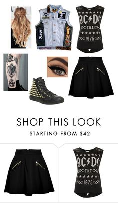 """Geen titel #1559"" by pebble2000 ❤ liked on Polyvore featuring Juicy Couture, Miss Selfridge and Converse"