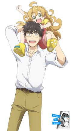 Kouhei and Tsumugi Sweetness And Lightning, Amaama To Inazuma, Manga Anime, Pokemon, Sketches, Fan Art, Comics, Drawings, Cute