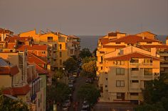 Sunset in Sozopol II (At the Seaside Resort in Bulgaria, Europe)