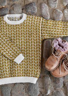pull laine ♢ wool knit tricot tofarget genser at sandnesgarn.no