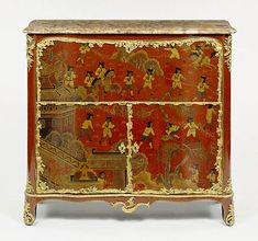 Stamped by Jacques Dubois   French, Paris, about 1755   Oak veneered with panels of Chinese lacquer on a ground of Nezuko wood and painted with vernis Martin