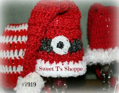 14 inch deep red  baby Santa hat Santa's belt in by SweetTsShoppe, $18.95