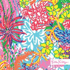 Lilly Pulitzer print : Fishing for Compliments detail