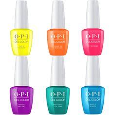 Opi gelcolor summer 2019 neon collection set of nail polish-universal nail Essie Nail Polish Colors, Opi Gel Polish, Opi Gel Nails, Opi Colors, Pedicure Nails, Nail Polishes, French Acrylic Nails, Almond Acrylic Nails, Wholesale Nail Supplies