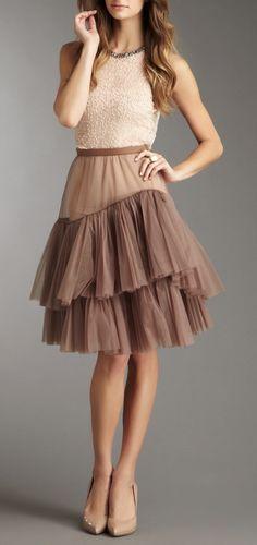 tulle dress / BCBG MAX AZRIA