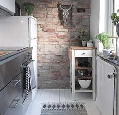 Image title Home Kitchens, Decor Styles, Brick, Indoor, Interior Design, Simple, Modern, Image Title, Home Decor