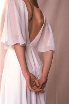 Simple boho wedding dress Beach chiffon wedding dress wedding dresses beach Open back wedding dress - Cape wedding dress - Chiffon Bridal gown with a cape pelerine - Minimalist open back wedding dress - VIENNA Wedding Dress Chiffon, Open Back Wedding Dress, Dream Wedding Dresses, Bridal Dresses, Wedding Gowns, Chiffon Gown, Bridesmaid Dresses, Fall Wedding, Wrap Wedding Dress