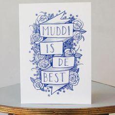 Grußkarte Muddi von platte Anna  nordliebe.com