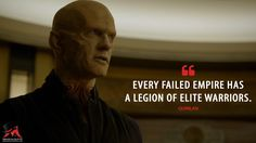 Quinlan: Every failed empire has a legion of elite warriors.  More on: http://www.magicalquote.com/series/the-strain/ #Quinlan #thestrain #thestrainquotes