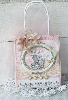 altered gift bag