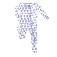 KicKee Pants Ruffle Footie in Forget Me Not Floral 4T *** You can get additional details at the image link.(It is Amazon affiliate link) #sweet