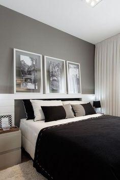 quartos decorados pinterest preto e branco