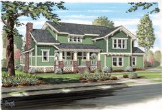 Bungalow Cottage Craftsman Traditional House Plan 74012