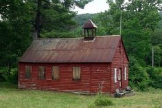 Steepled One Room Schoolhouse in Potter Hollow, NY