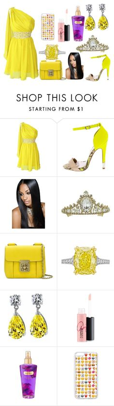"""""""Yellow as the Sun"""" by sahara2313 ❤ liked on Polyvore featuring Chloé, Betteridge, Bling Jewelry, MAC Cosmetics and Victoria's Secret"""