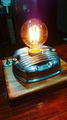 Edison Bulb Light Fixtures, Light Fittings, Diy Luminaire, Lampe Retro, Restore Wood, Diy Pipe, Automotive Furniture, Steampunk Lamp, Pipe Lamp