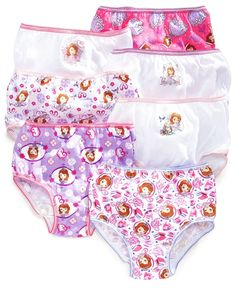 Disney Junior Sofia the First 8-Pack Girls Panties Underwear