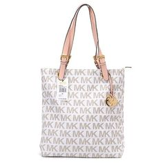 Michael Kors Jet Set Logo Large Vanilla Totes.More than 60% Off, I enjoy these bags.It's pretty cool (: Check it out! | See more about fashion icons, michael kors and michael kors outlet.