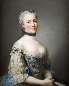 Portrait of Countess Katarzyna Zamoyska by Roslin, 1753