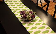 Table Runner - Green Ikat Table Runners - Ikat Table Runners For Weddings or Home Decor - Select A Size