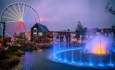 The Island in Pigeon Forge is breathtaking at night!